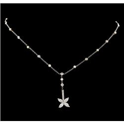 2.00 ctw Diamond Pendant with Chain - 14KT White Gold