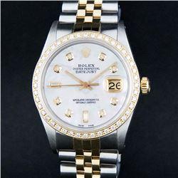 Rolex Two-Tone MOP Diamond DateJust Men's Watch