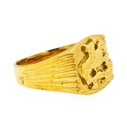 Equestrian Motif Ring - 18KT Yellow Gold