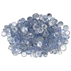 14.32 ctw Round Mixed Tanzanite Parcel