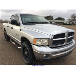 2004 - DODGE RAM1500//TEXAS REGISTRATION ONLY