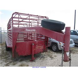 2001 - CATTLE TRAILER//TEXAS REGISTRATION ONLY