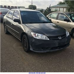 2005 - HONDA CIVIC // REBUILT SALVAGE // TEXAS REGISTRATION