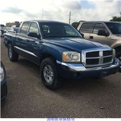 2005 - DODGE DAKOTA // REBUILT SALVAGE // TEXAS REGISTRATION