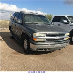 2002 - CHEVROLET TAHOE // TEXAS REGISTRATION