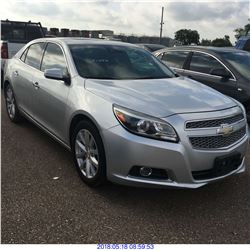 2013 - CHEVROLET MALIBU // REBUILT SALVAGE // TEXAS REGISTRATION