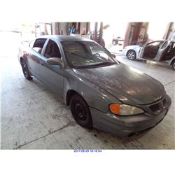 2004 - PONTIAC GRAND AM// SALVAGE TITLE
