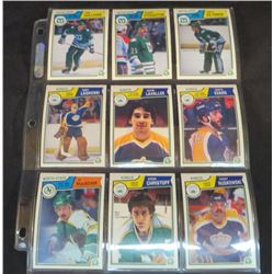 1983-84 OPC Hockey Lot Of 9 Cards
