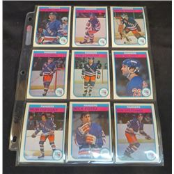 1982-83 OPC Hockey New York Rangers Lot Of 9 Cards