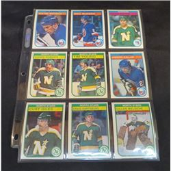 1982-83 OPC Hockey Lot Of 9 Cards