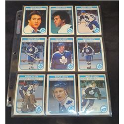 1982-83 OPC Hockey Maple Leafs Lot Of 9 Cards