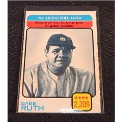 1973 O-Pee-Chee #474 Babe Ruth