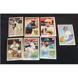 1978 OPC Baseball Cards Lot Of 7