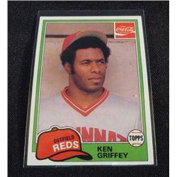 1981 Coke Team Sets #42 Ken Griffey
