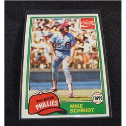 1981 Coke Team Sets #105 Mike Schmidt