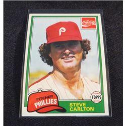 1981 Coke Team Sets #99 Steve Carlton