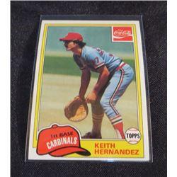 1981 Coke Team Sets #123 Keith Hernandez