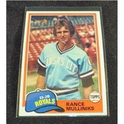1981 Topps #433 Rance Mulliniks
