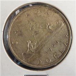 1960 Canadian Silver $1 Dollar Coin