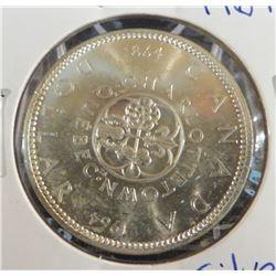1964 Canadian Silver $1 Dollar Coin