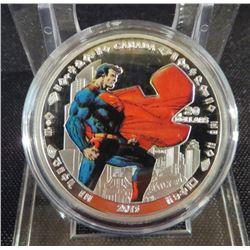 Superman 75th Anniversary Silver Replica Coin