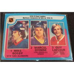 79-80 O-Pee-Chee #1 Goal Leaders/Mike Bossy/Marcel