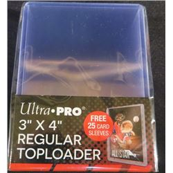 """Ultra Pro 3""""x4"""" Regular 25 Top Loaders With"""