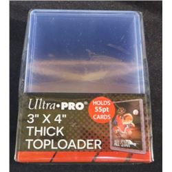 """Ultra Pro 3""""x4"""" Thick Top Loaders 55pt (25 Pack)"""