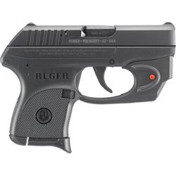 RUGER LCP .380ACP 6-SHOT FS BLUED WITH VIRIDIAN RED LASER