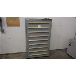 9 Drawer Steel Cabinet Full of Punches Punches As Pictured