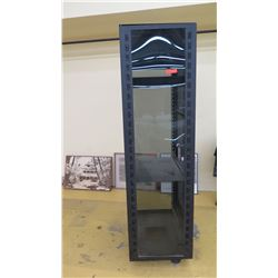 IT Server Rack Tower w/Glass Door, 7ft Tall, 3ft Deep, 2ft Wide