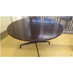 "Round Table, Dark Wood, Eames Office, 54.5"" Dia."