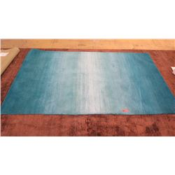 Area Rug: Blue w/White Accents, Pier 1, 5 ft. X 8ft. 100% Wool, Minor Signs of Wear