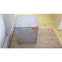 Pair: Concrete-Look Block Side Tables