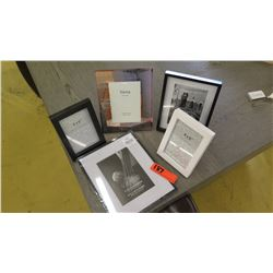 Qty 5 Misc. Photo Frames, Various Sizes