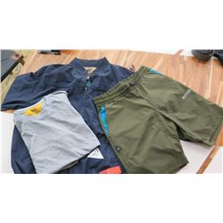 """Men's """"Fitted Brand"""" Weather Resistant Jacket (L), T-Shirt (L), Shorts (S)"""
