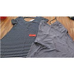 Women's Clothing w/Tags: Striped Dress (M), Victoria's Secret Silk Nightie (S) - faint spots/smudge