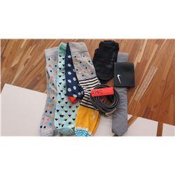4 Pairs of Socks, Belt, Tie, Wallet