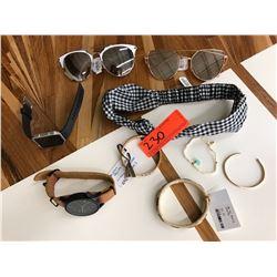 Fitbit, Komono Wristwatch, 2 Sunglasses, Misc. Bracelets, Headband