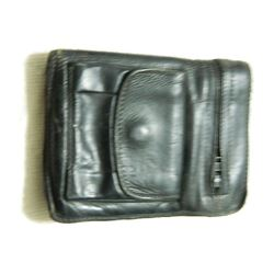 ESTATE LEATHER WALLET - SEVILLE CANADA - ALL ZIPPERS & SNAP WORKING