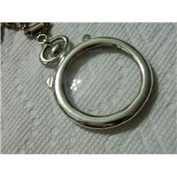 """NECKLACE - POCKET WATCH FRONT ON CHAIN - 2"""" DIAMETER & 22"""" CHAIN"""