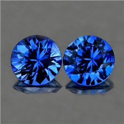 Natural Royal Blue Kashmir Sapphire Pair 3.50 MM
