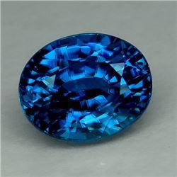 Natural Combodian  Blue Zircon 6.63 Carats - VVS