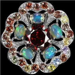 Natural Opal & Multi Gem Pendant