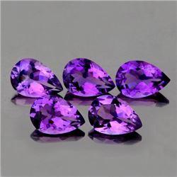 Natural Purple Pear Amethyst 10 x 7  mm - VVS