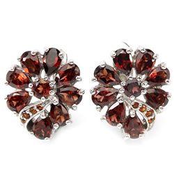 Natural Mozambique Garnet Earrings