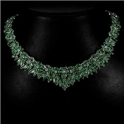 Natural Green Emerald 331 Carats Necklace