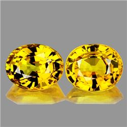 Natural Golden Yellow Pair 5x4 MM - VVS