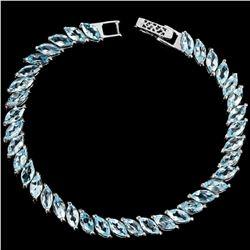 Natural SKY BLUE TOPAZ 85 Crats MARQUISE Bracelet