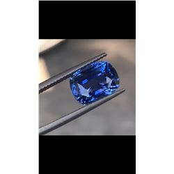 Natural Untreated Vivid Blue Sapphire 8.54 Ct - FL